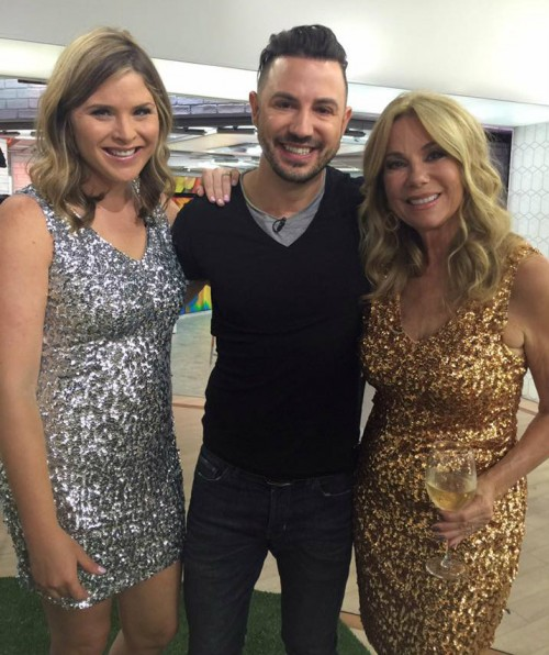 Samba Montclair's Ilson Goncalves  with  Jenna Bush and Kathie Lee Gifford.