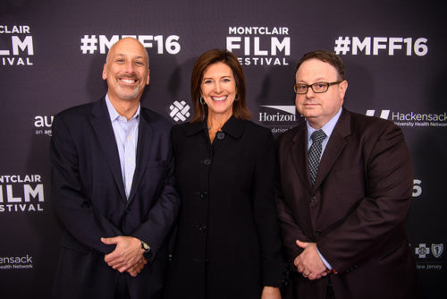 MFF Founder Bob Feinberg, President of the Board Evie Colbert and Director Tom Hall Photo courtesy of Neil Grabowsky, Montclair Film Festival.
