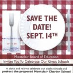 Montclair BOE Sponsors Rally To Protest Proposed Charter School, 9/14
