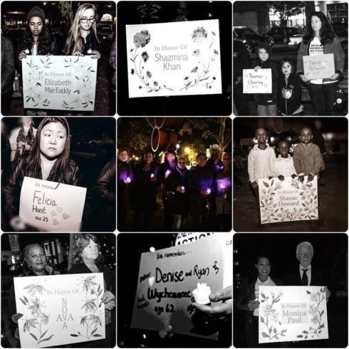 Candlelight Vigil with S.O.F.I.A.
