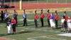 Drum Major Lucy Smeets accepting the 2nd Place Trophy in Glassboro. Photo: Neil Nathanson.