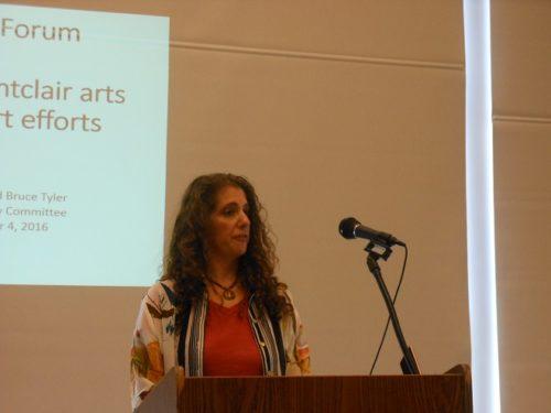 Montclair Arts Advisory Council chair Elaine Molinaro at the December 4 arts forum
