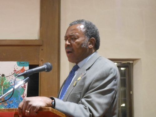 James Harris of the Montclair NAACP at the intergenerational forum on race, class and culture.