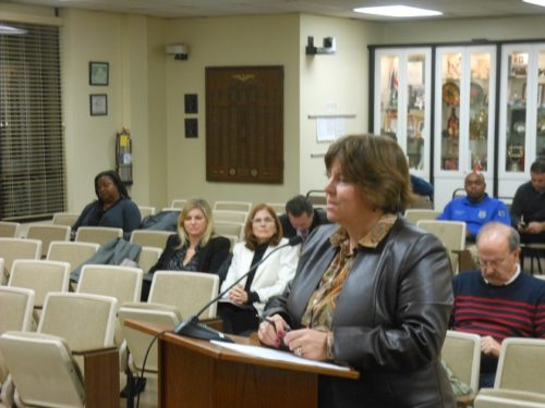 Montclair Planning Director Janice Talley presents the 2017 community development block grant applications to the Montclair Township Council.