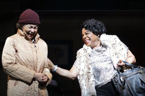 Lizan Mitchell as Lou and Tina Fabrique as Ethel