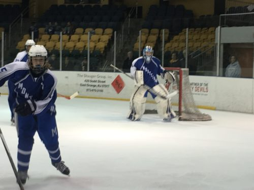Montclair High senior goalie Ondrej Smalec had 54 saves in the Mounties' holiday tournament win over Ridgewood last week.
