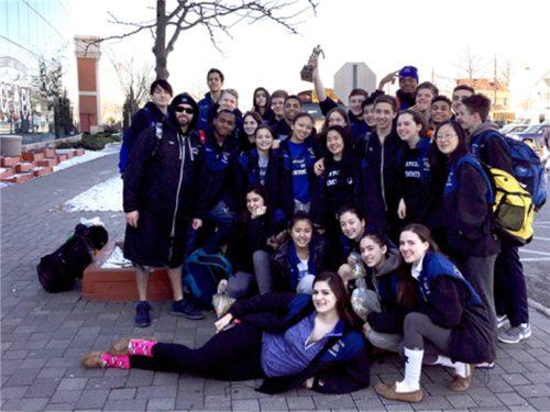 MHS Boys and Girls Swimming County Championship Team. Photo: Izumi Hara
