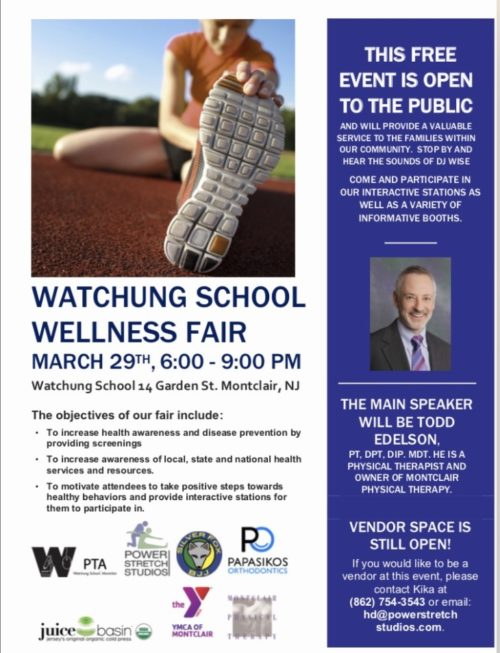 The Watchung School Wellness Fair