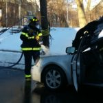 Montclair FD Responded to Car Fire on North Fullerton Avenue This Morning