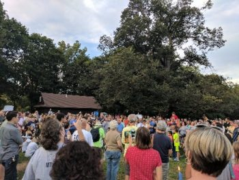 Candlelight Vigil for Charlottesville in Brookdale Park