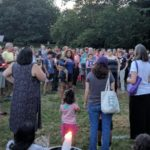 Candlelight Vigil in Brookdale Park Held in Solidarity with Charlottesville