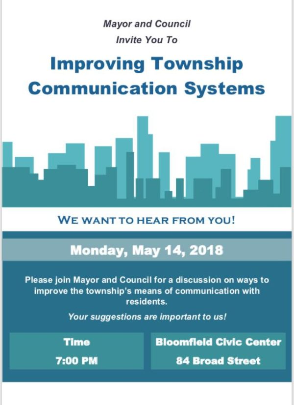 Under the direction of the Mayor and Council, the Township is currently  working to develop a Bloomfield Township application which residents can  use to stay ...