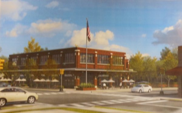 A Rendering Of Steven Plofkeru0027s Proposed Retail Office Building On The  Southeast Corner Of Grove And Walnut Streets
