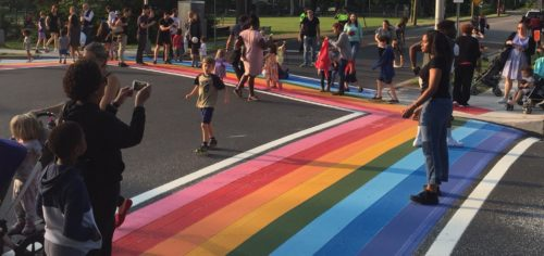 Maplewood Crosswalk Shows Its Pride Colors   Baristanet
