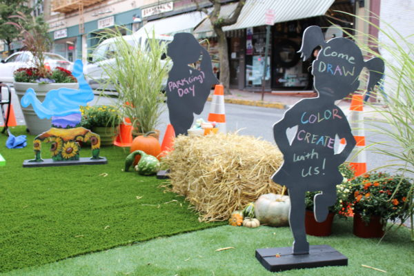 """Today! Celebrate Montclair's PARK(ing) Day with Interactive Pop-up  """"Parklet"""" on Glenridge Ave. 