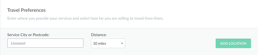 Enter your travel preferences here