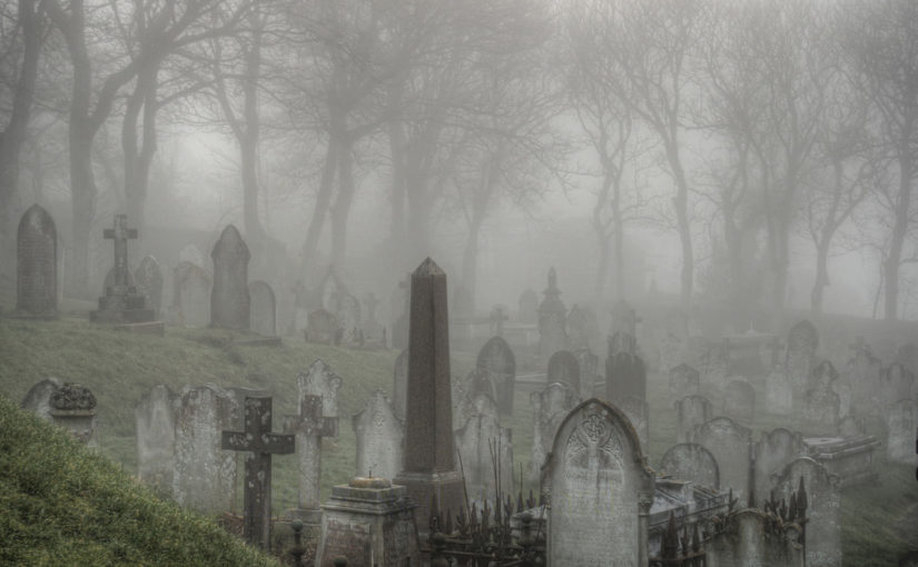 Would you spend Halloween night in a graveyard?