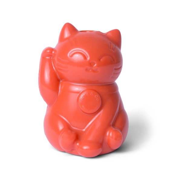 Photograph of BarkBox's Rubber Lucky Cat product