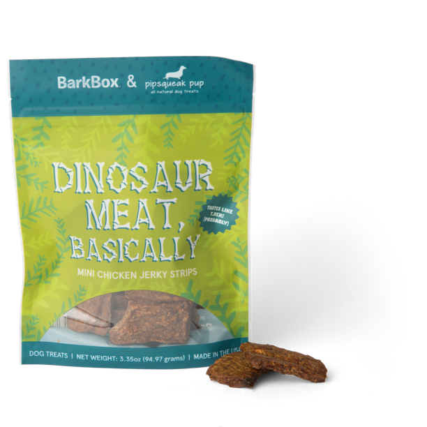 Photograph of BarkBox's Dinosaur Meat, Basically product