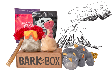 Chewrassic Bark themed BarkBox