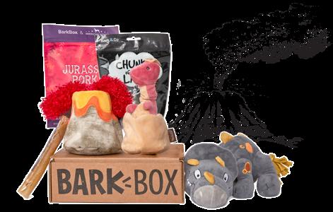 Chewrassic Bark themed BarkBox