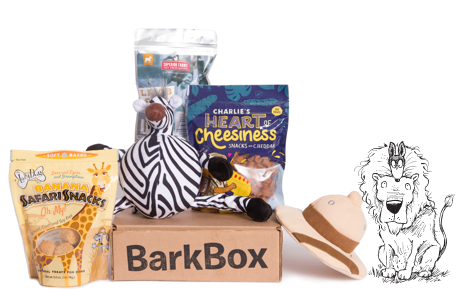 Sniffin' Safari themed BarkBox