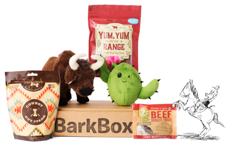 Every BarkBox has at least 2 innovative toys, 2 all-natural bags of treats, and a chew, curated from each month's unique themed collection.