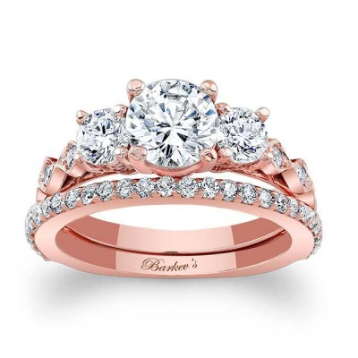 Rose Gold Bridal Set 7973SP