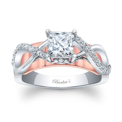 Princess Cut Engagement Ring 8018LTRV