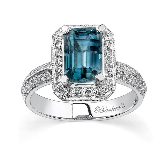 barkev s white gold blue topaz ring 6394l