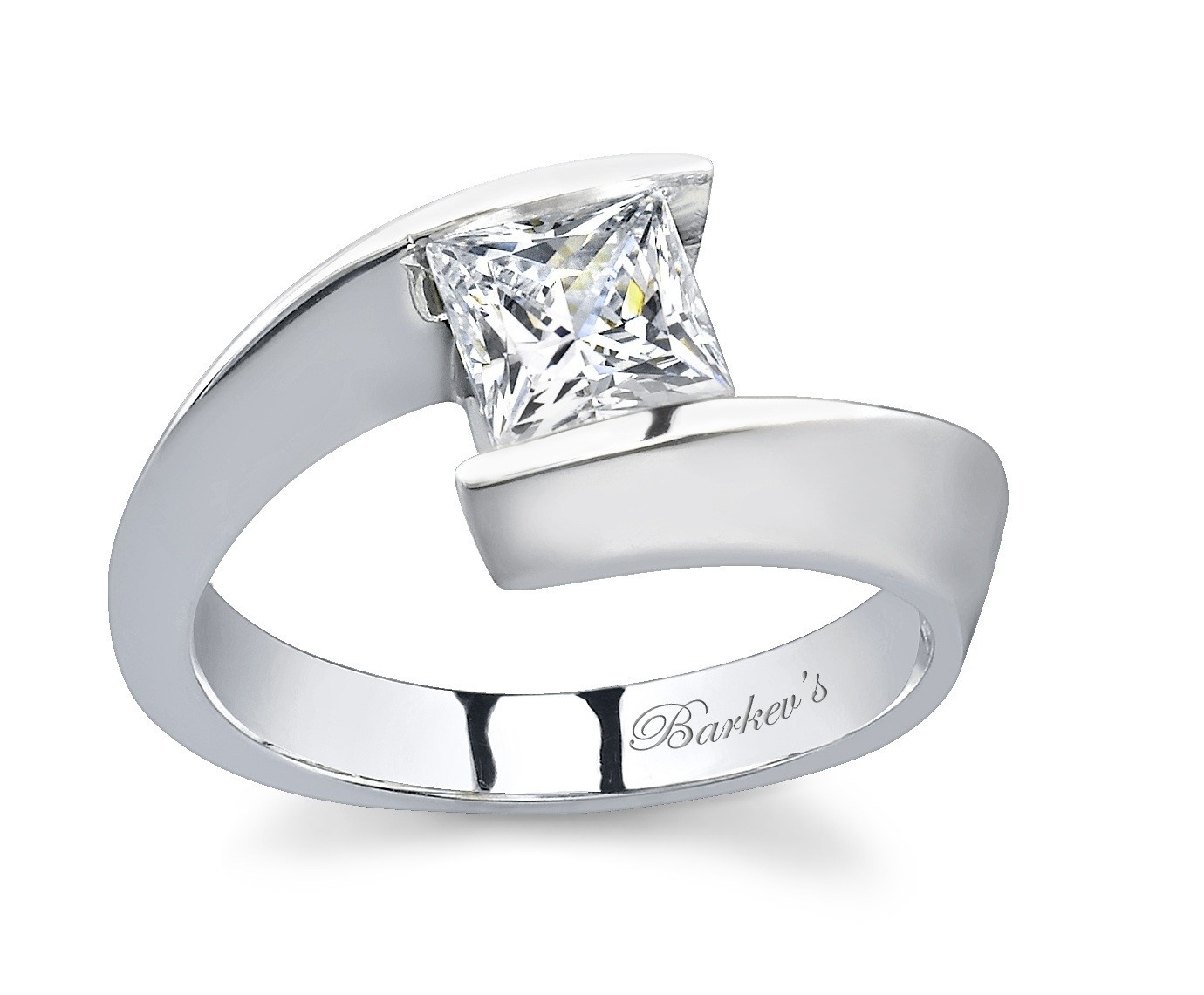 barkev's princess cut solitaire engagement ring - 6594l