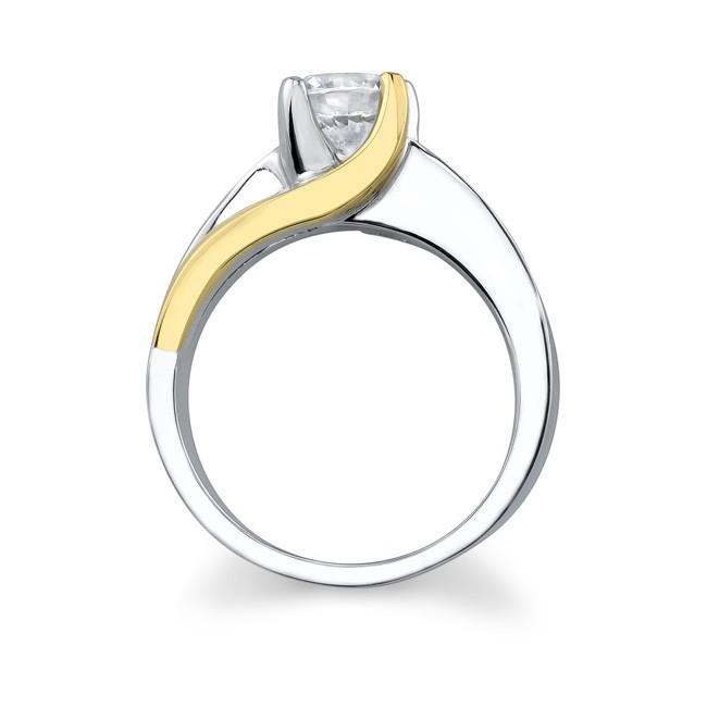 barkev 39 s two tone solitaire engagement ring 6819l