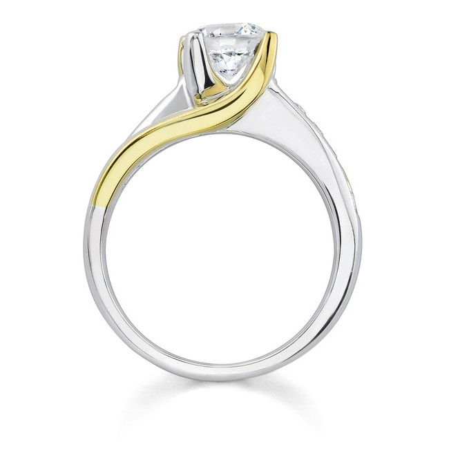 two tone engagement ring 6990ly - Two Tone Wedding Rings