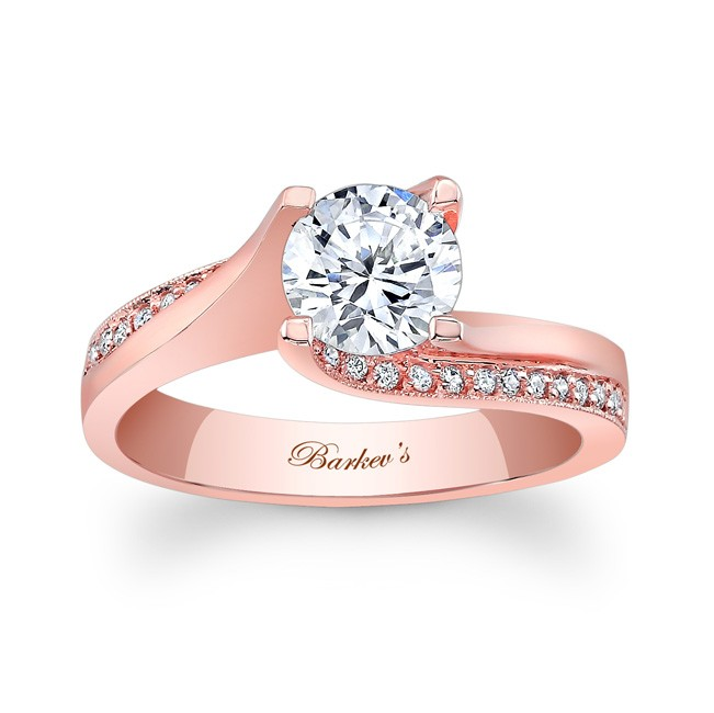 Barkevs Rose Gold Engagement Ring 7171LP