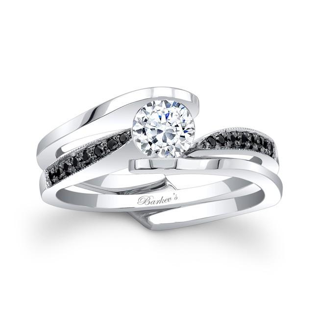 Barkevs Black Diamond Bridal Set 7327SBK
