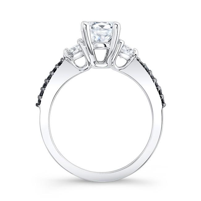 Black Diamond Engagement Ring 7539LBK · Black Diamond Engagement Ring  7539LBK Profile