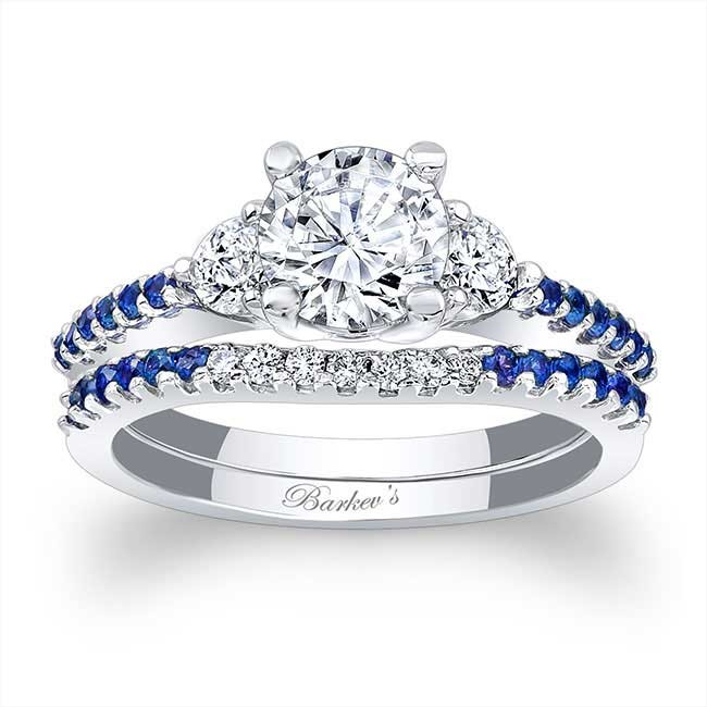 Barkevs Blue Sapphire Engagement Ring 7539SBS