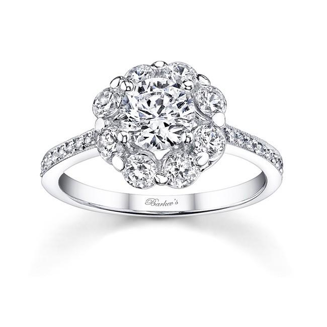 flower engagement ring - Flower Wedding Rings