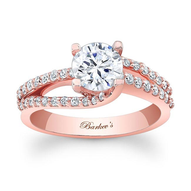 Barkevs Rose Gold Engagement Ring 7677LP