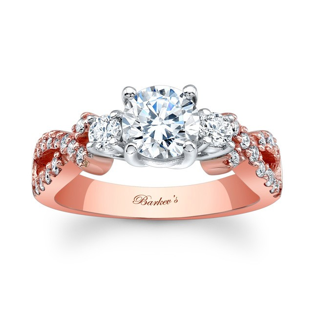 Barkevs Rose Gold Engagement Ring 7682LP