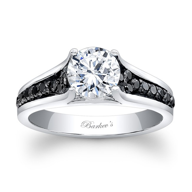 Barkevs Black Diamond Engagement Ring 7698LBK