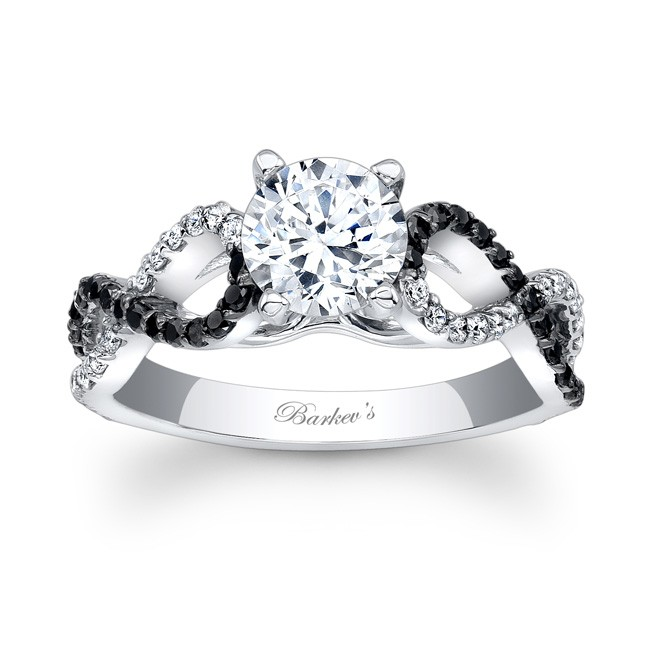 Barkevs Black Diamond Engagement Ring 7714LBK