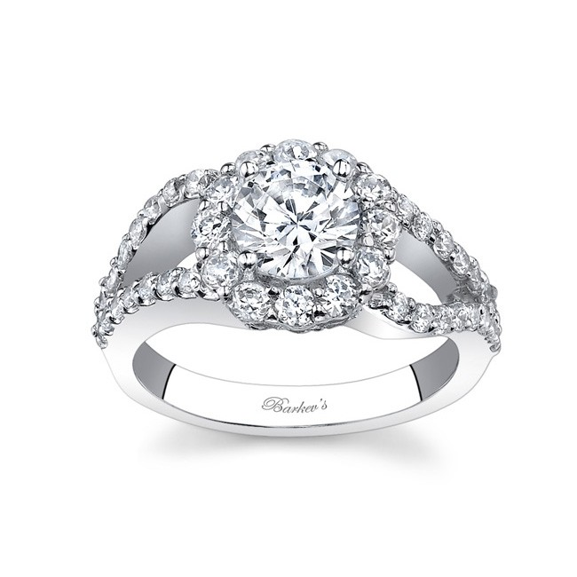 split shank halo engagement ring 7762l - Halo Wedding Rings