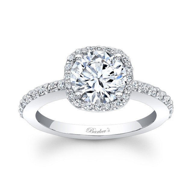 Barkev s Halo Engagement Ring 7838L