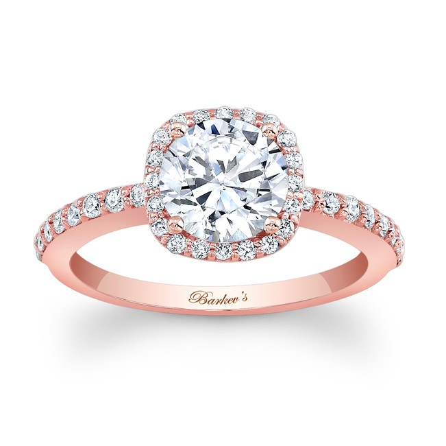 Barkevs Rose Gold Engagement Ring 7838LP