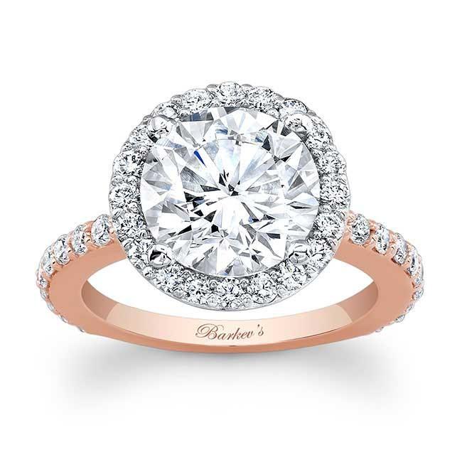 Barkevs Rose White Gold Engagement Ring 7839LT