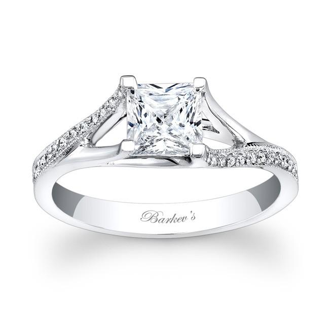 Barkev's Princess Cut Engagement Ring - 7850L - photo #31