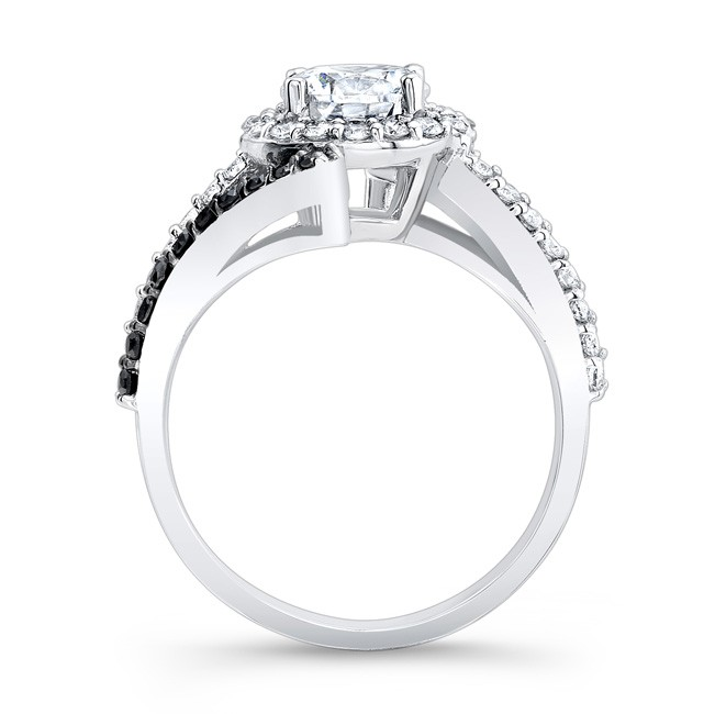Barkev s Black Diamond Halo Engagement Ring 7857LBK