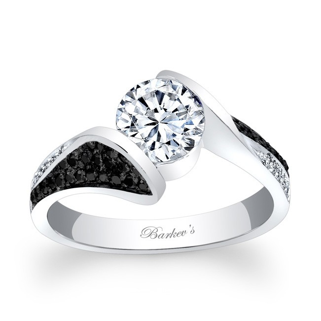 barkev 39 s black diamond engagement ring 7871lbk