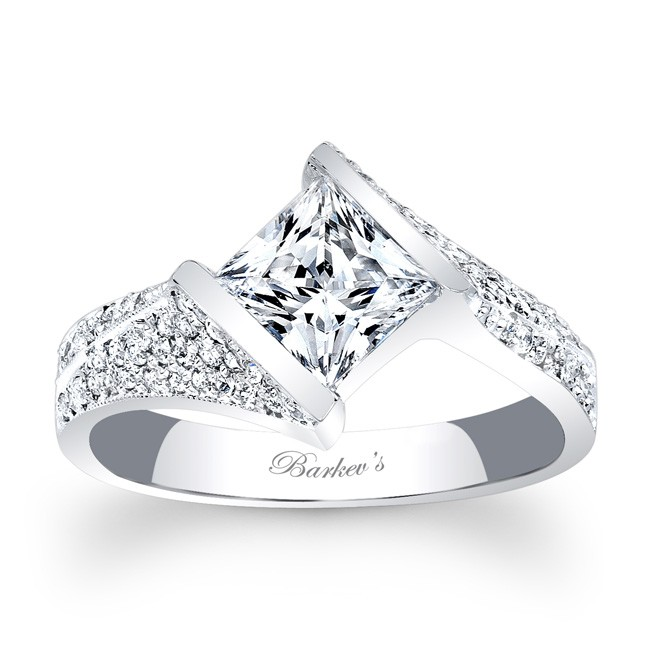 Barkev's Princess Cut Engagement Ring 7872L